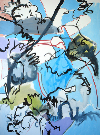 Up Where We Belong, 2008 – 102 x 76 cm; Acrylic and permanent paint marker on canvas